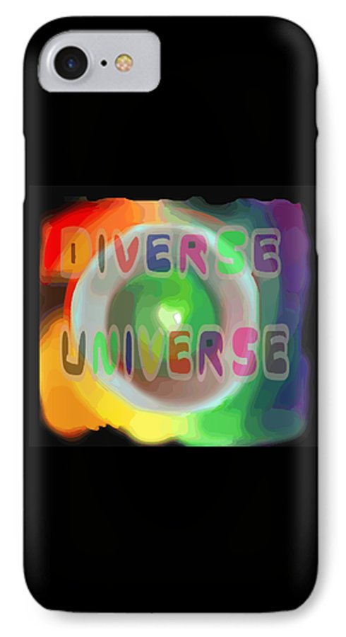 Diverse IPhone 7 Case featuring the painting Diverse Universe by Pharris Art