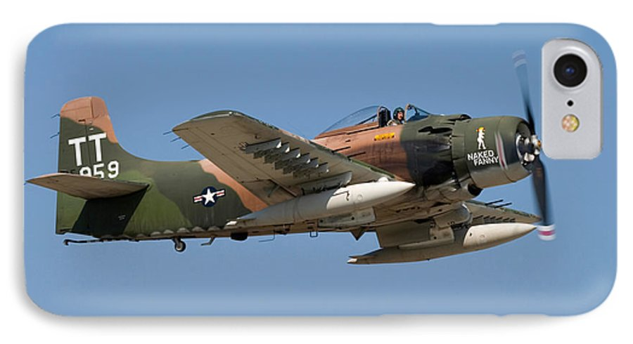 3scape IPhone 7 Case featuring the photograph Douglas Ad-4 Skyraider by Adam Romanowicz