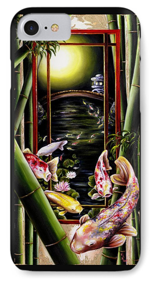 Japanese IPhone 7 Case featuring the painting Dream by Hiroko Sakai