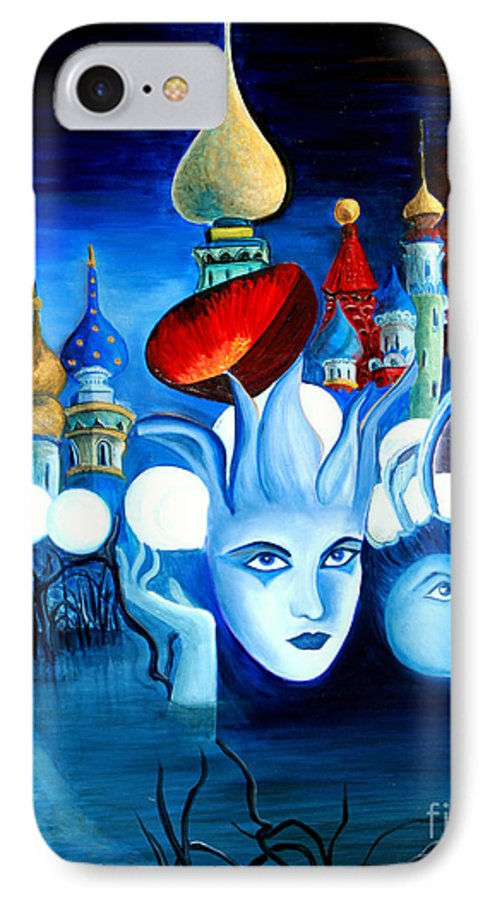 Surrealism IPhone 7 Case featuring the painting Dreams by Pilar Martinez-Byrne