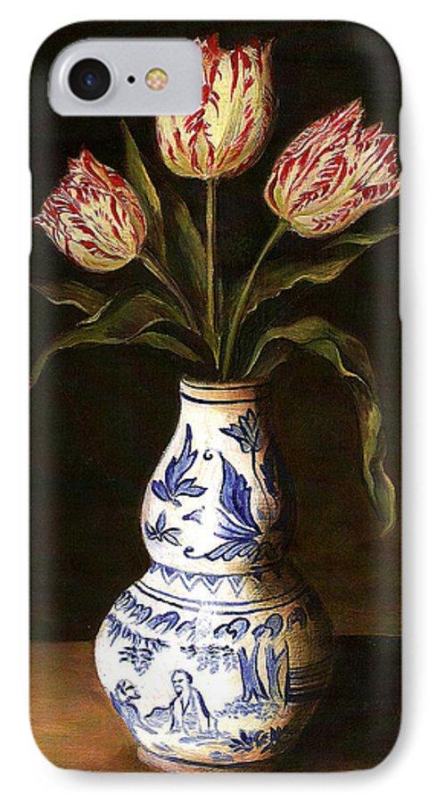 Dutch Still Life IPhone 7 Case featuring the painting Dutch Still Life by Teresa Carter