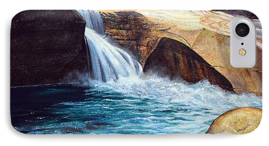 Emerald Pool IPhone 7 Case featuring the painting Emerald Pool by Frank Wilson