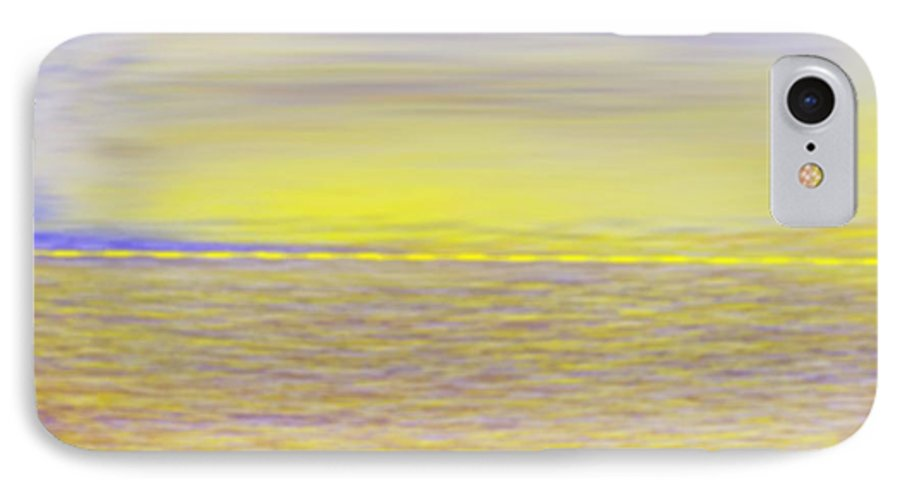 Sky.clouds.sun Reflection On Clouds.colr Clouds.sunset.sun.yellow.sea.waves.sun Reflection On Water. IPhone 7 Case featuring the digital art End Of Day by Dr Loifer Vladimir