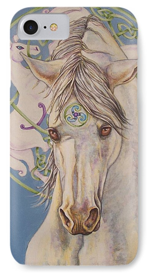 Celtic IPhone 7 Case featuring the painting Epona The Great Mare by Beth Clark-McDonal