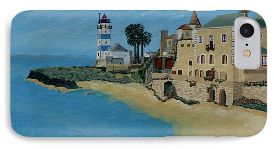 Lighthouse IPhone 7 Case featuring the painting European Lighthouse by Anthony Dunphy