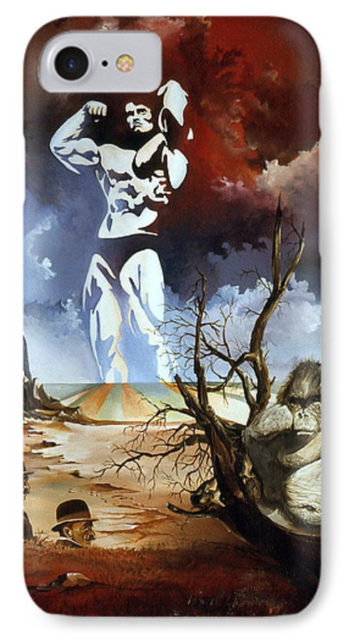 Surrealism IPhone 7 Case featuring the painting Evolution by Otto Rapp