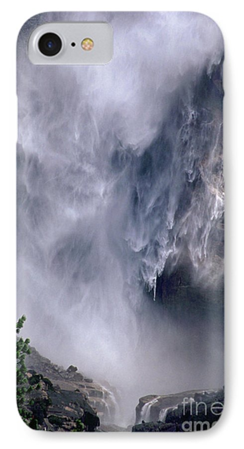 Waterfall IPhone 7 Case featuring the photograph Falling Water by Kathy McClure