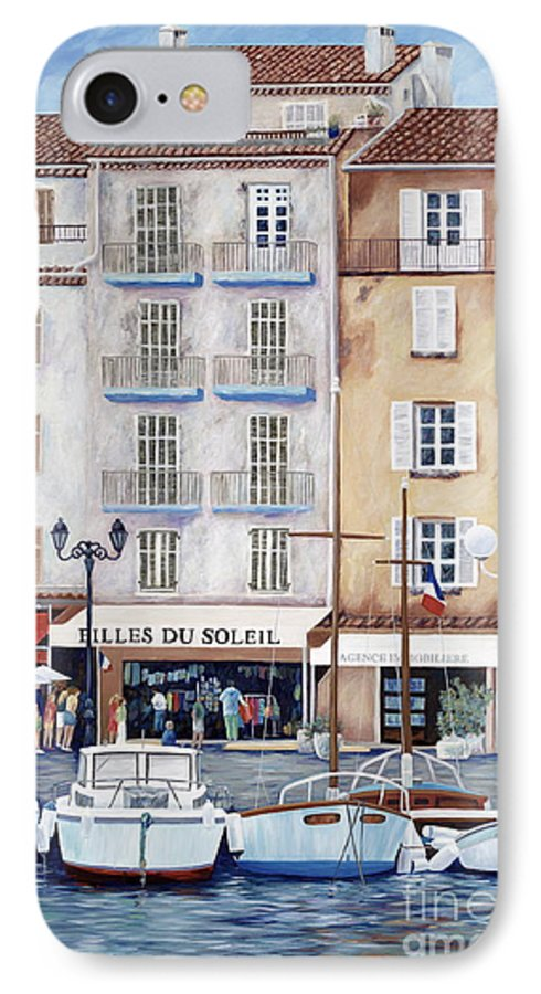 St. Tropez IPhone 7 Case featuring the painting Filles Du Soleil by Danielle Perry