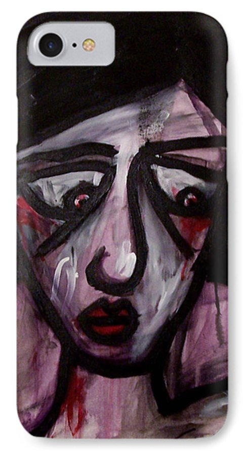 Portait IPhone 7 Case featuring the painting Finals by Thomas Valentine