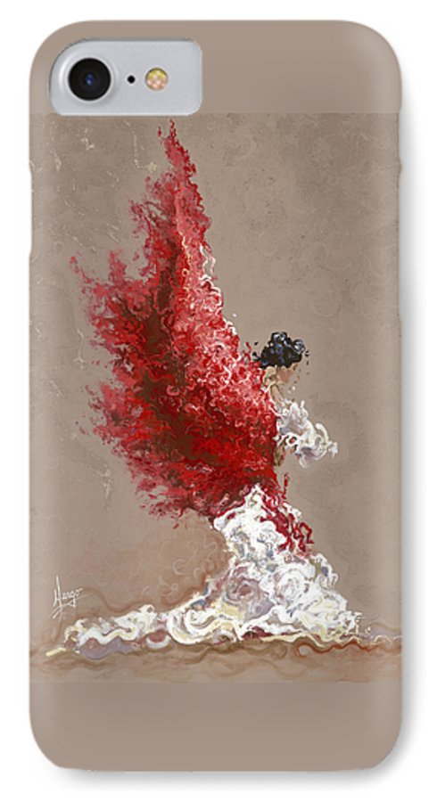 Dance IPhone 7 Case featuring the painting Fire by Karina Llergo