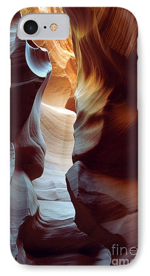 Slot Canyon IPhone 7 Case featuring the photograph Follow The Light II by Kathy McClure