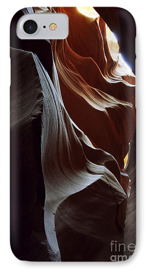 Antelope Canyon IPhone 7 Case featuring the photograph Follow The Light by Kathy McClure