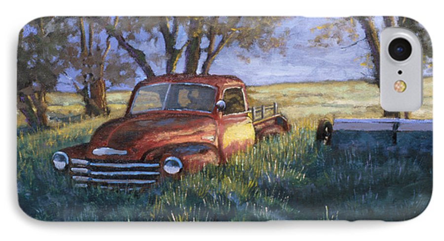 Pickup Truck IPhone 7 Case featuring the painting Forgotten But Still Good by Jerry McElroy