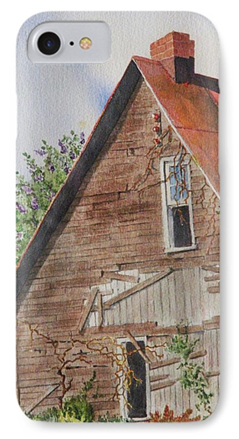 Farm IPhone 7 Case featuring the painting Forgotten Dreams Of Old by Mary Ellen Mueller Legault