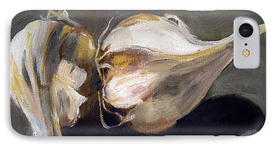 Still-life IPhone 7 Case featuring the painting Garlic by Sarah Lynch