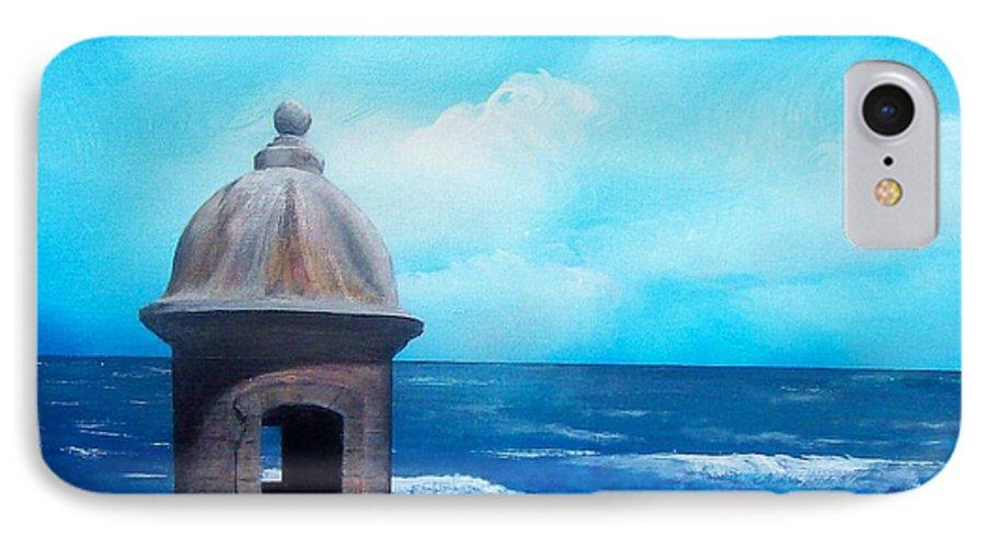 Garrita Del Diablo IPhone 7 Case featuring the painting Garrita Del Diablo by Tony Rodriguez