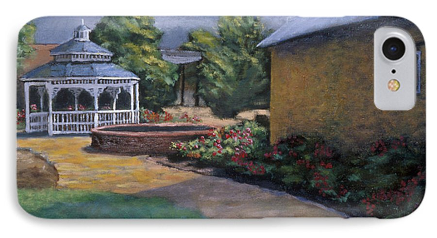 Potter IPhone 7 Case featuring the painting Gazebo In Potter Nebraska by Jerry McElroy
