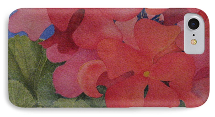 Florals IPhone 7 Case featuring the painting Generium by Mary Ellen Mueller Legault