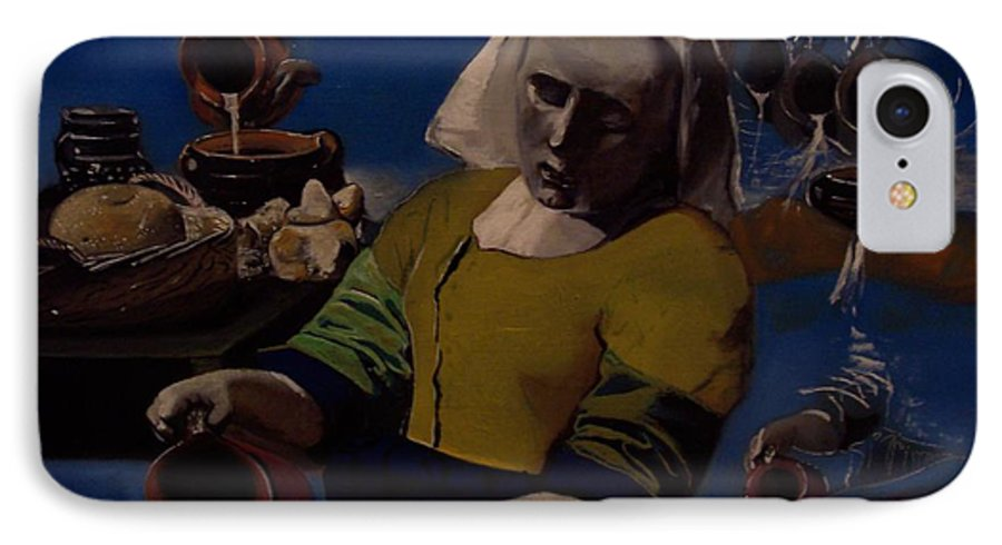 IPhone 7 Case featuring the painting Geological Milk Maid Anthropomorphasized by Jude Darrien