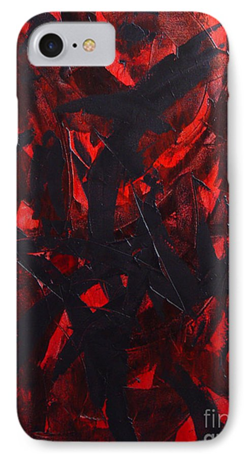 Abstract IPhone 7 Case featuring the painting Good Bye by Dean Triolo
