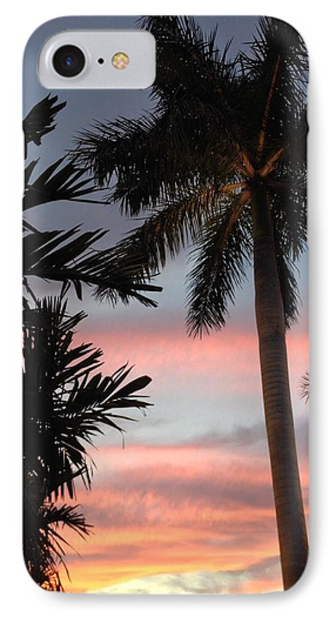 Pastel Sky IPhone 7 Case featuring the photograph Goodnight Waterside by K Simmons Luna