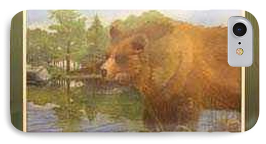 Rick Huotari IPhone 7 Case featuring the painting Grizzly by Rick Huotari