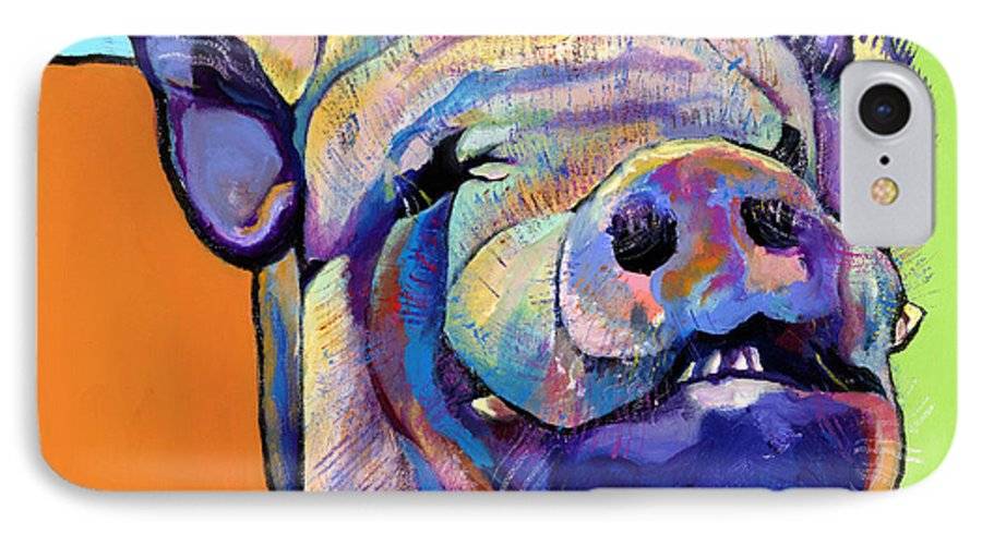 Pat Saunders-white Canvas Prints IPhone 7 Case featuring the painting Grunt  by Pat Saunders-White