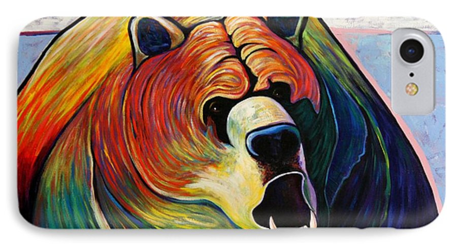 Wildlife IPhone 7 Case featuring the painting He Who Greets With Fire by Joe Triano