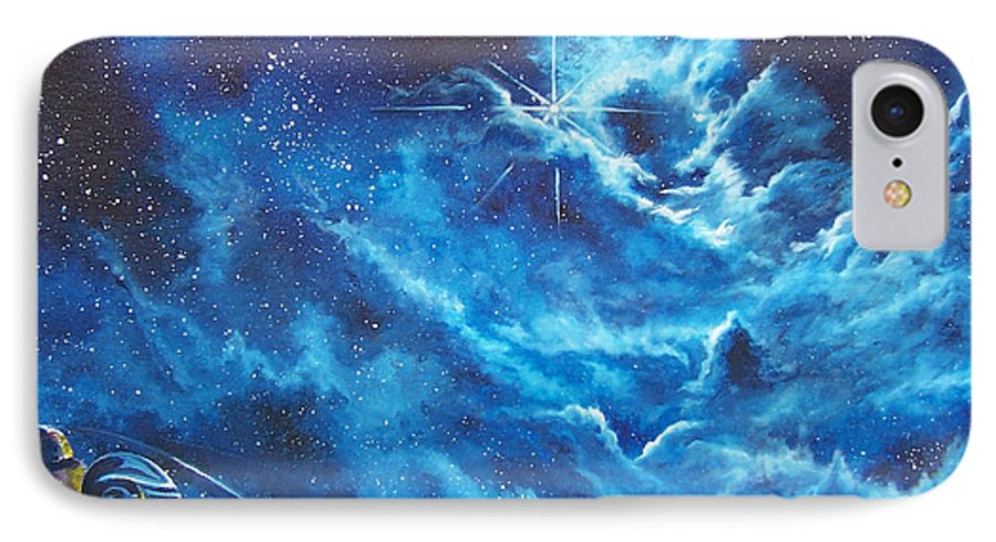 Astro IPhone 7 Case featuring the painting Heavens Gate by Murphy Elliott