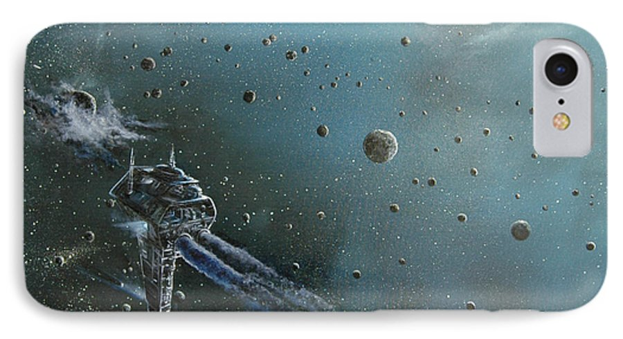 Astro IPhone 7 Case featuring the painting Hiding In The Field by Murphy Elliott