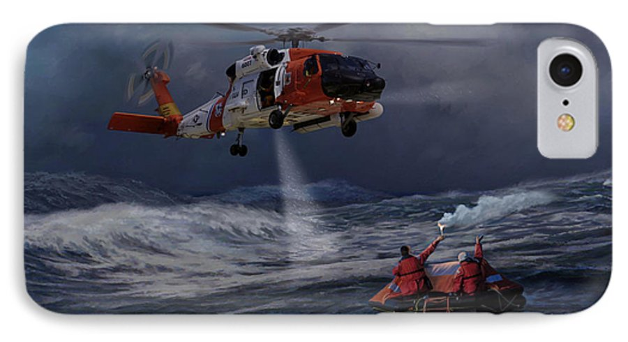 Aviation IPhone 7 Case featuring the painting High Magnitude Of Bravery by Mark Karvon