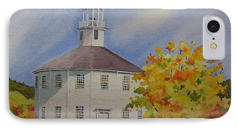 Richmond IPhone 7 Case featuring the painting Historic Richmond Round Church by Mary Ellen Mueller Legault