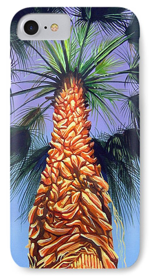Palm Tree In Palm Springs California IPhone 7 Case featuring the painting Holding Onto The Earth by Hunter Jay