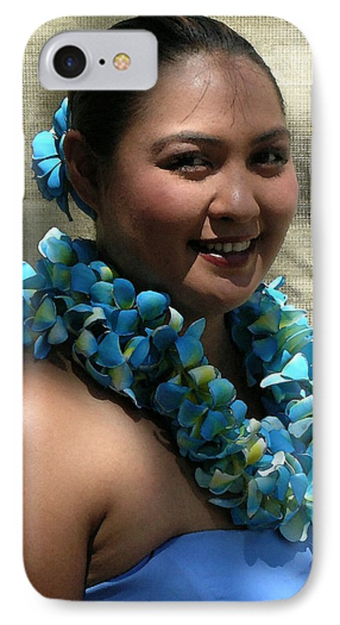 Hawaii Iphone Cases IPhone 7 Case featuring the photograph Hula Blue by James Temple