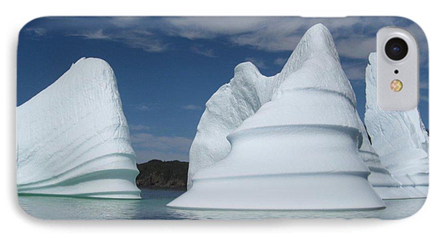 Iceberg Newfoundland IPhone 7 Case featuring the photograph Icebergs by Seon-Jeong Kim