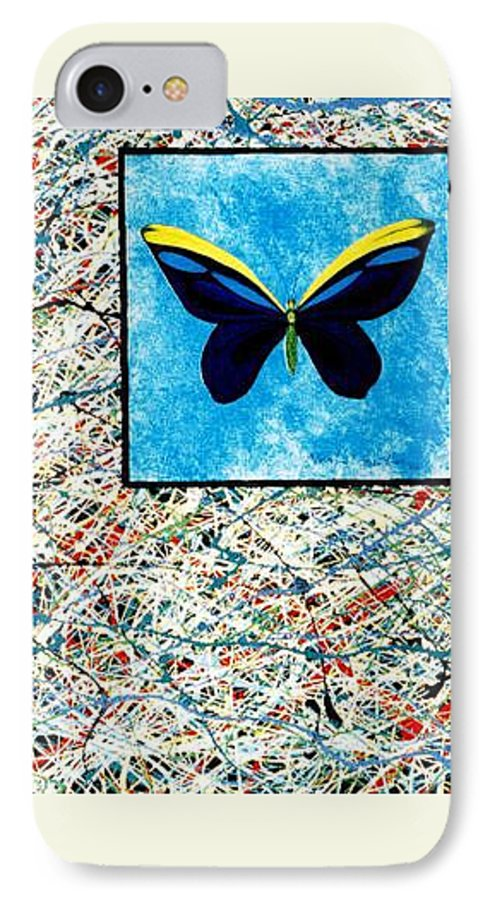 Abstract IPhone 7 Case featuring the painting Imperfect II by Micah Guenther