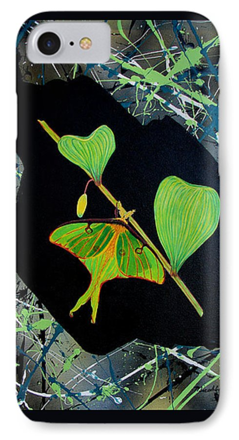 Abstract IPhone 7 Case featuring the painting Imperfect IIi by Micah Guenther