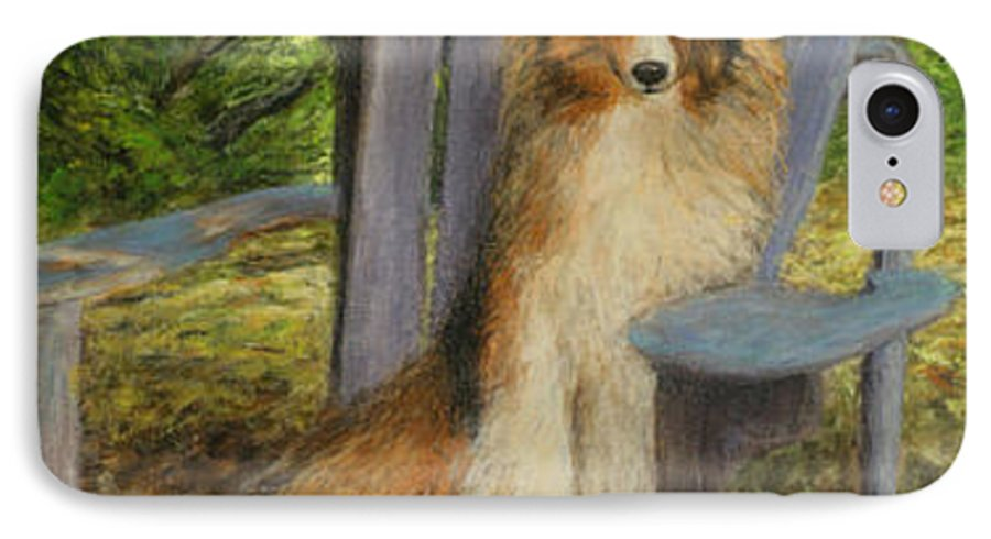 Pets IPhone 7 Case featuring the painting In Memory Of Esha by Chris Neil Smith