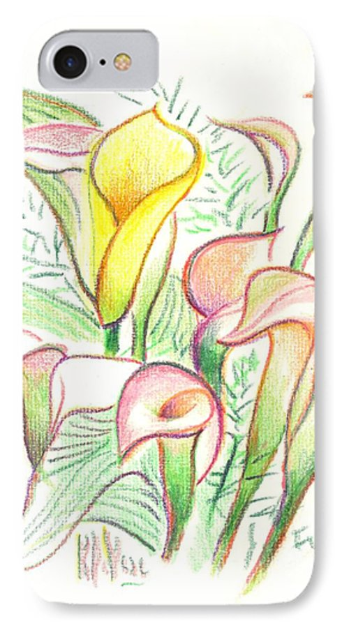 In The Golden Afternoon IPhone 7 Case featuring the painting In The Golden Afternoon by Kip DeVore