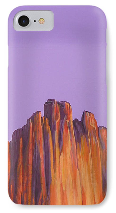 Landscape IPhone 7 Case featuring the painting Inscription Rock by Hunter Jay