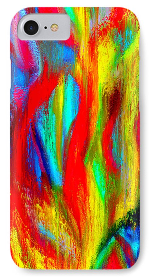 Abstract IPhone 7 Case featuring the painting Inspire Experiment by Stan Hamilton