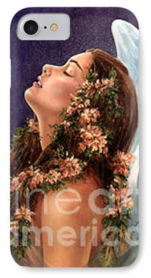 Angel IPhone 7 Case featuring the painting Island Angel by Wendy Froshay