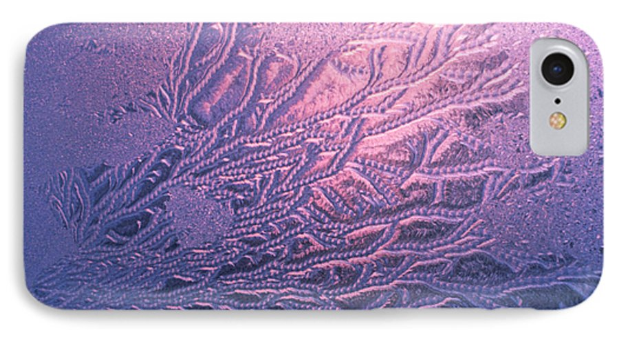 Frost IPhone 7 Case featuring the photograph Jack Frost Window At Dawn by Anna Lisa Yoder