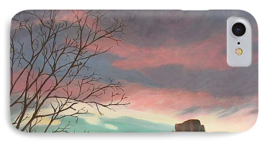 Sedona IPhone 7 Case featuring the painting Jewels In The Sky by Janis Mock-Jones