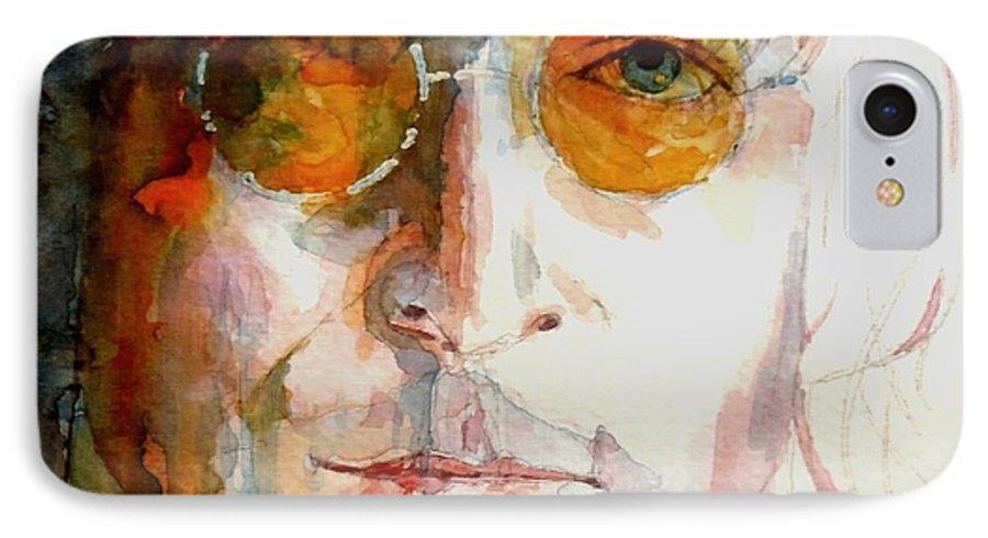 John Lennon IPhone 7 Case featuring the painting John Winston Lennon by Paul Lovering
