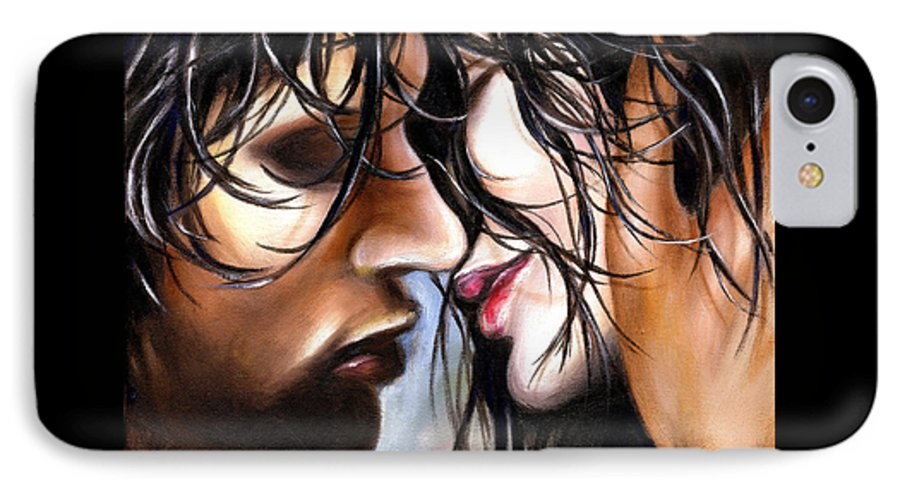 Lovers IPhone 7 Case featuring the painting June Breeze by Hiroko Sakai