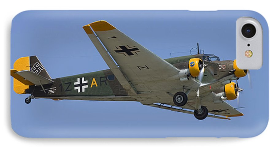 3scape IPhone 7 Case featuring the photograph Junkers Ju-52 by Adam Romanowicz