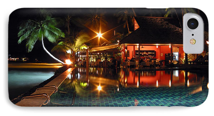 3scape IPhone 7 Case featuring the photograph Koh Samui Beach Resort by Adam Romanowicz