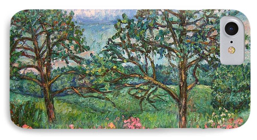 Landscape IPhone 7 Case featuring the painting Kraft Avenue In Blacksburg by Kendall Kessler
