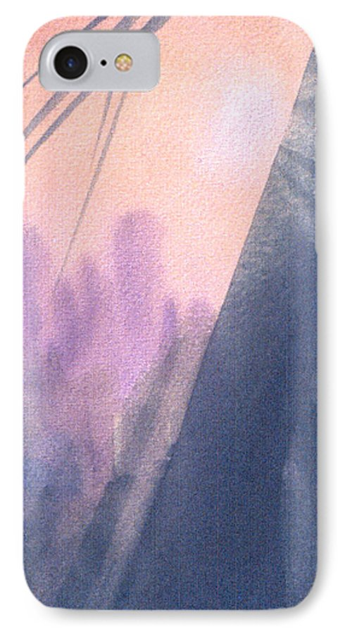 Landscape IPhone 7 Case featuring the painting La Morning by Christina Rahm Galanis